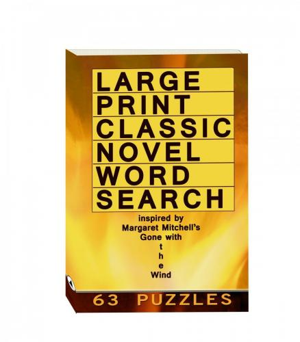 Buy Large Print Classic Novel Word Search - Margaret Mitchell's Gone With The Wind
