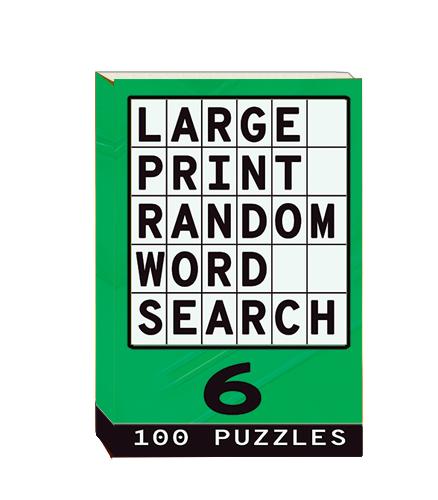 Buy Large Print Random Word Search 6