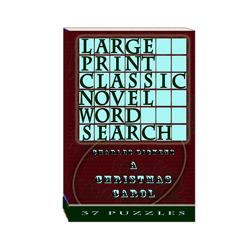 Buy Large Print Classic Novel Word Search - Charles Dickens's A Christmas Carol