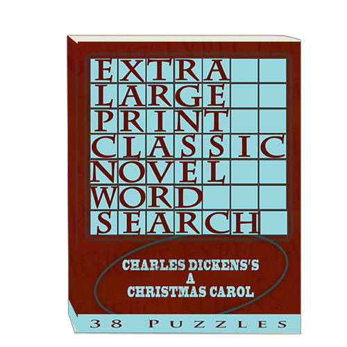 Buy Extra Large Print Classic Novel Word Search - Charles Dickens's A Christmas Carol