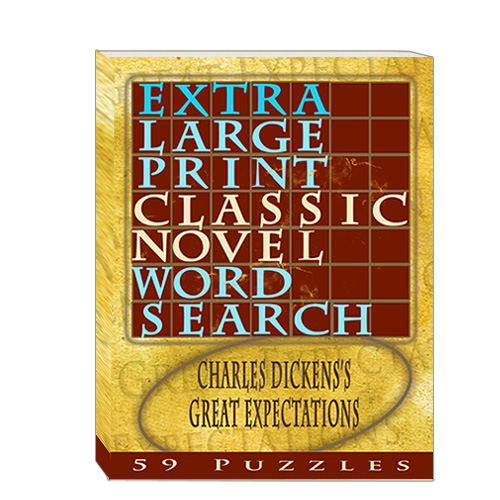 Buy Extra Large Print Classic Novel Word Search - Charles Dickens's Great Expectations