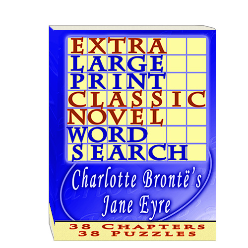 Buy Extra Large Print Classic Novel Word Search - Charlotte Bronte's Jane Eyre