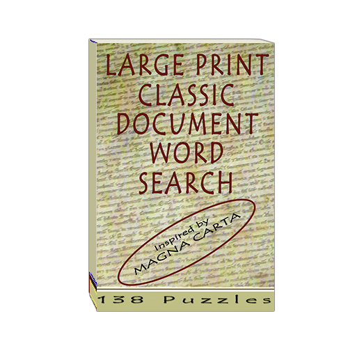 Buy Large Print Classic Document Word Search - Magna Carta