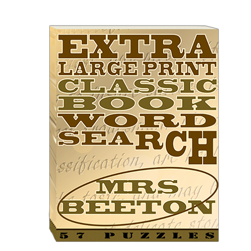 Buy Extra Large Print Classic Book Word Search - Mrs Beeton