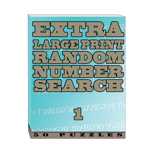 Buy Extra Large Print RandomNumber Word Search 1