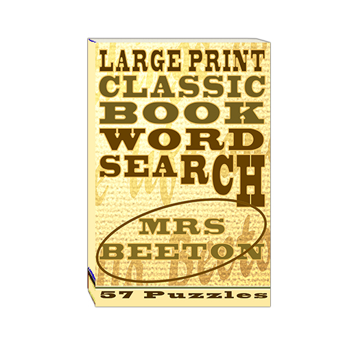 Buy Large Print Classic Book Word Search - Mrs Beeton