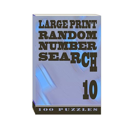 Buy Large Print Random Number Search 10