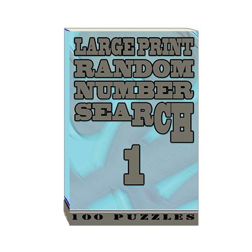 Buy Large Print Random Number Search 1