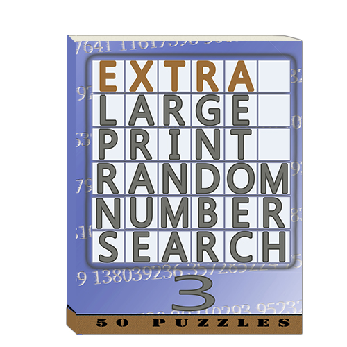 Buy Extra Large Print RandomNumber Word Search 3