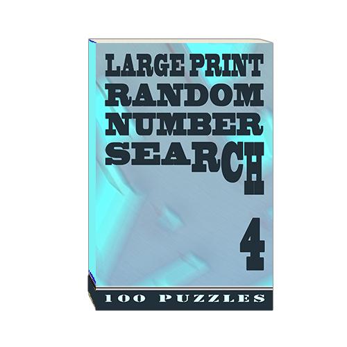 Buy Large Print Random Number Search 4