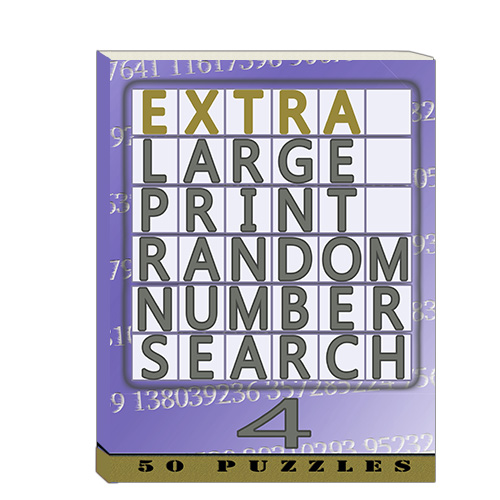 Buy Extra Large Print RandomNumber Word Search 4