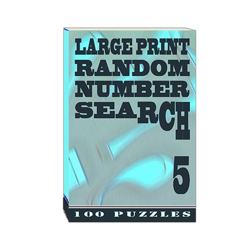 Buy Large Print Random Number Search 5