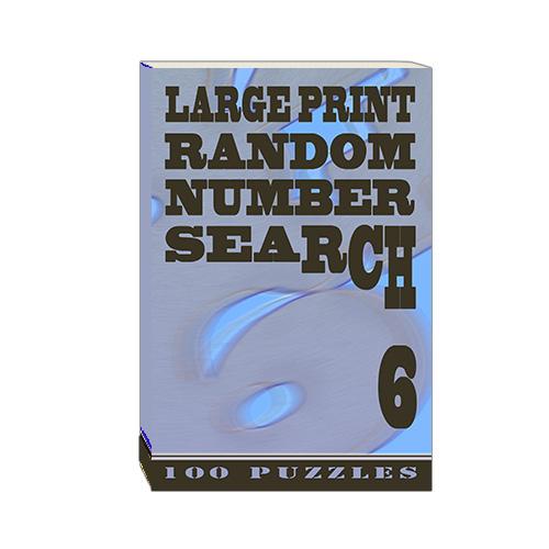 Buy Large Print Random Number Search 6