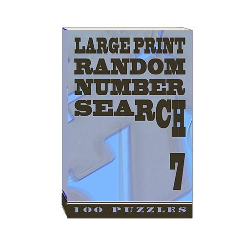 Buy Large Print Random Number Search 7