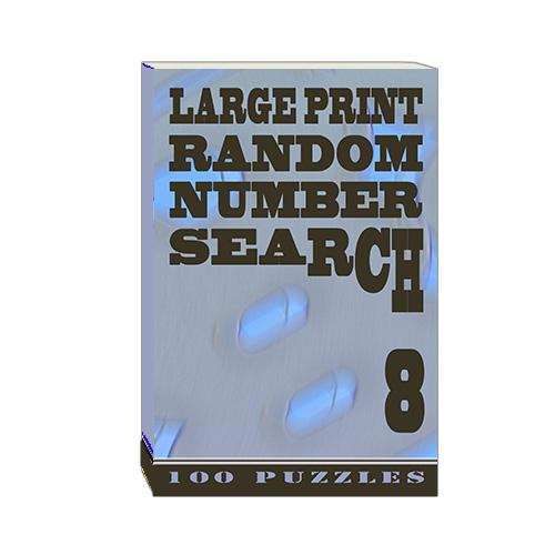 Buy Large Print Random Number Search 8
