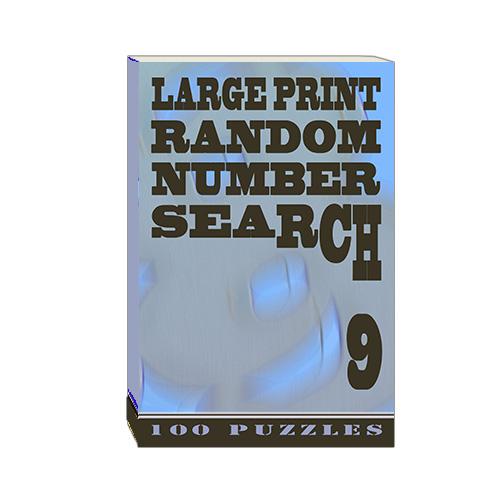 Buy Large Print Random Number Search 9