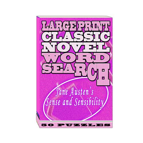 Buy Large Print Classic Novel Word Search - Jane Austen's Sense and Sensibility